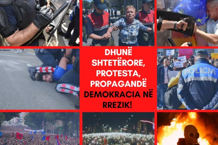 Dhunë shtetërore, protesta, propagandë. Demokracia në rrezik?