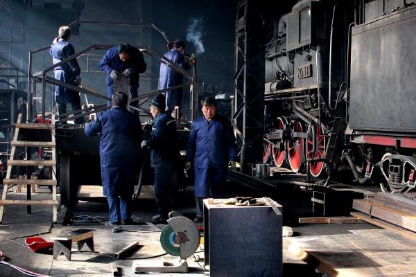 Las recién jubiladas locomotoras de vapor de China