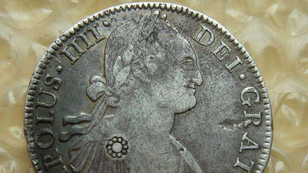 monedas plata españa carlos VI china