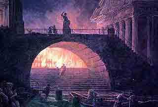 Incendio de Roma. Robert Hubert