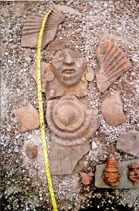 Restos encontrados en el sitio