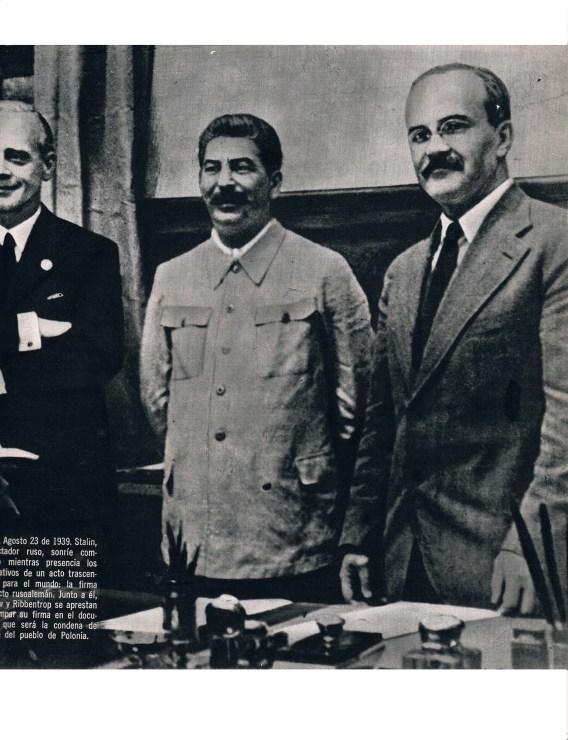 Molotov, Ribbentrop y Stalin 23 Agosto 1939