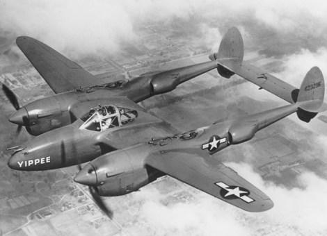 otografía del Lockheed P-38 Lightning Yippee de las Fuerzas Aéreas del Ejército de los Estados Unidos