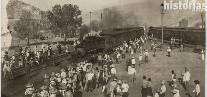 FOTOGRAFÍA DE CHARLES B. WHITE, ENTRONQUE FERROVIARIO EN TORREÓN, CA. 1910. BIBLIOTECA DEGOLYER, UNIVERSIDAD METODISTA DEL SUR, EUA