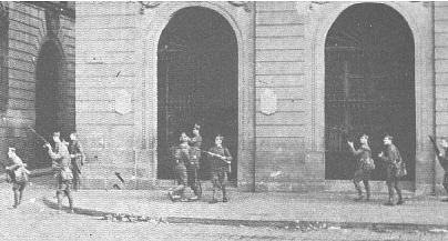 Tropas de Sanjurjo durante el levamtamiento de 1932