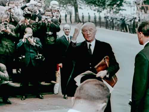President John F. Kennedy Visit to Germany 1963 - Konrad Adenauer