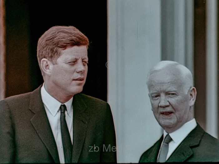 Präsident John F. Kennedy Deutschlandbesuch 1963 - Bundespräsident Lübke