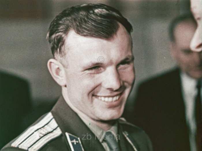 Empfang von Gagarin in Moskau 1961