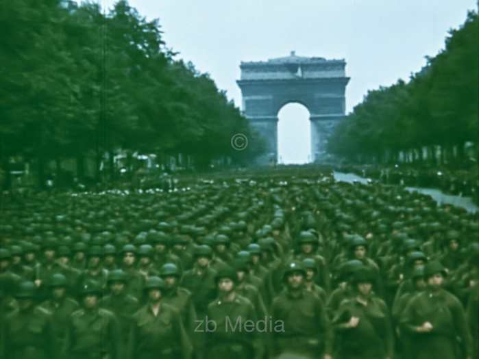 Parade in Paris August 1944