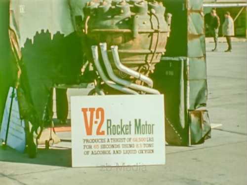 V2 Raketenmotor auf Ausstellung in USA 1945