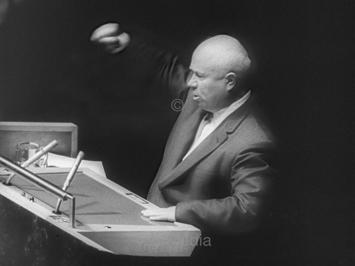 Chruschtschow spricht vor der UNO Vollversammlung 1960