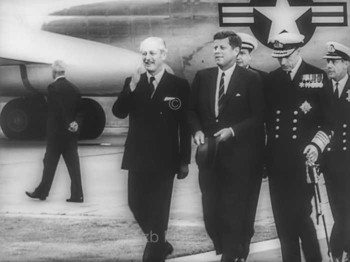John F. Kennedy und Harold Macmillan 1961