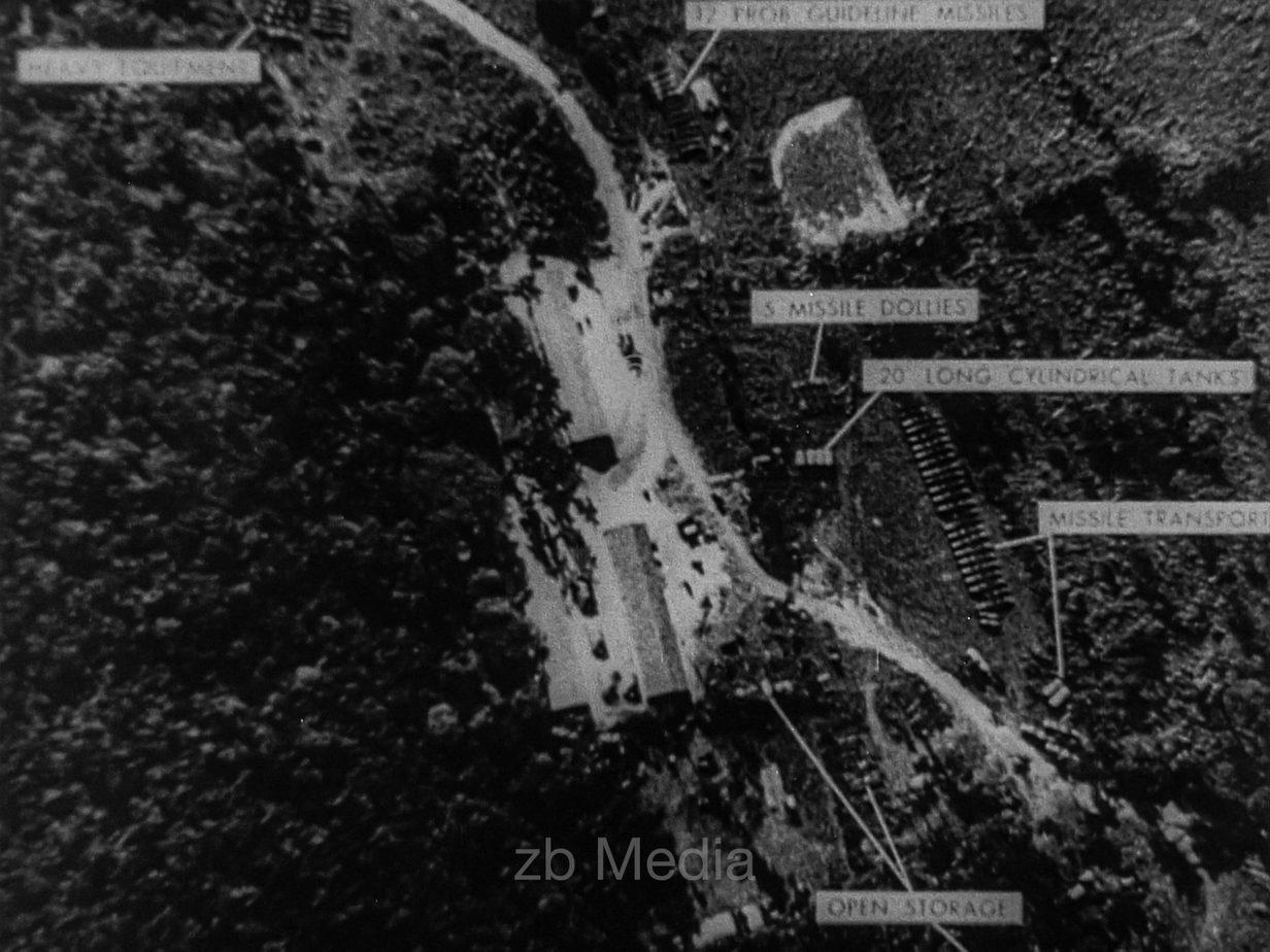 Kubakrise 1962 Aufklärungsfoto von Raketenanlagen