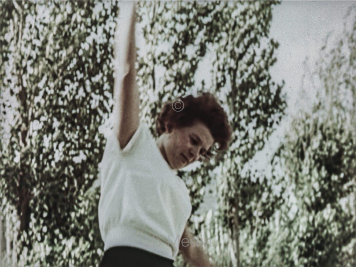 Valentina Tereschkowa bei Gymnastik