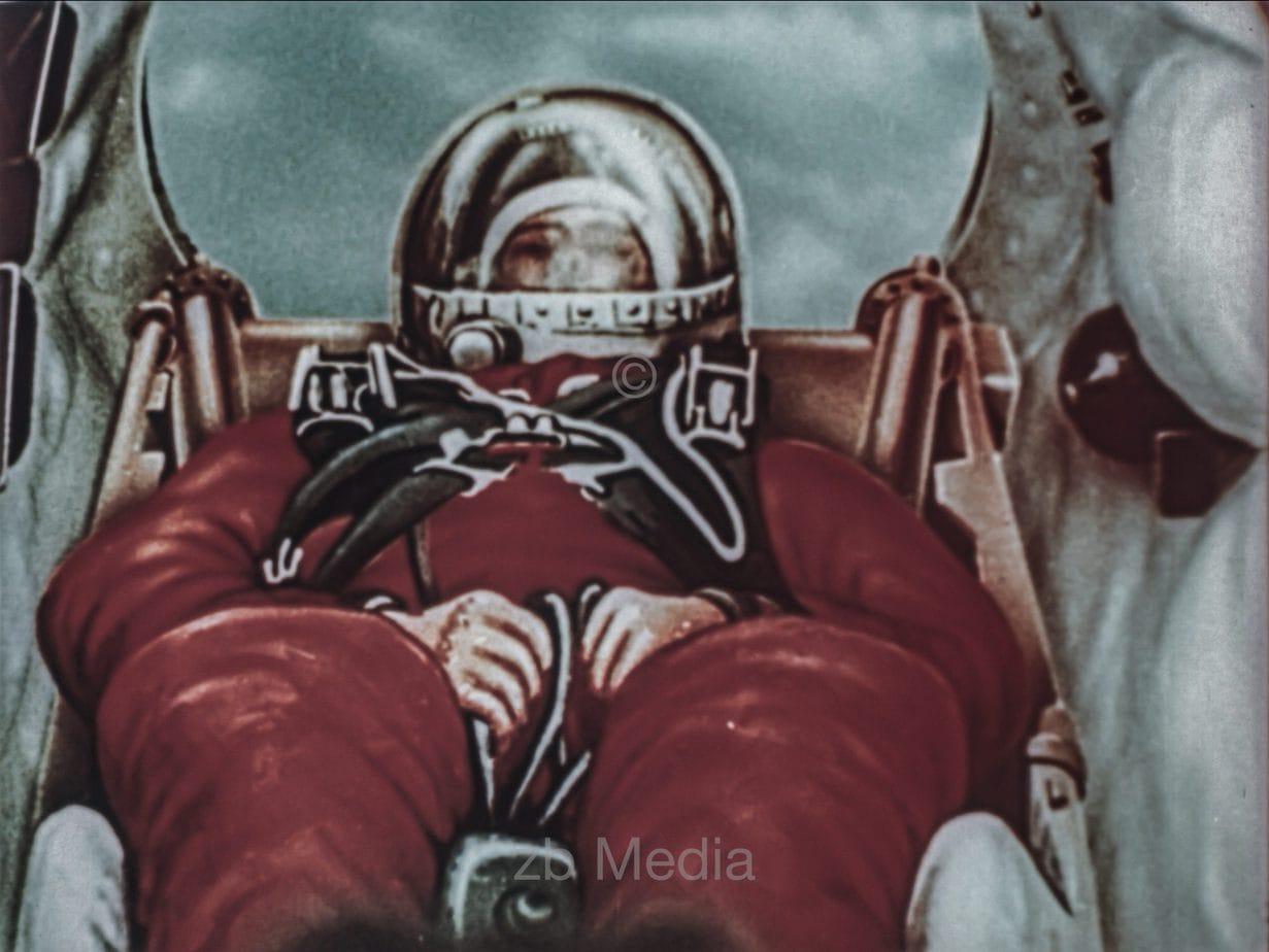 Animation Landung Raumschiff Vostok 6