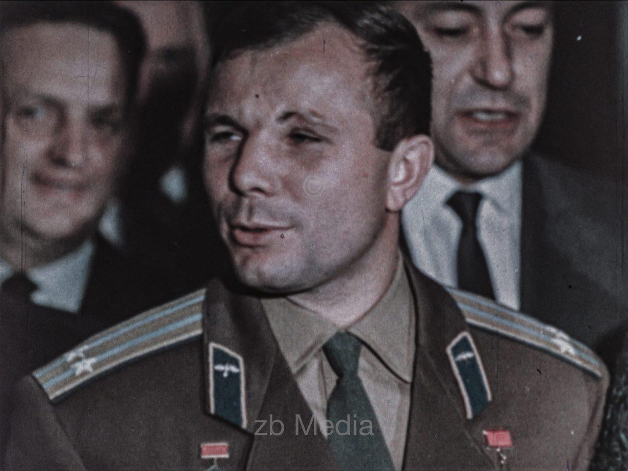 Tereschkowa und Gagarin in New York