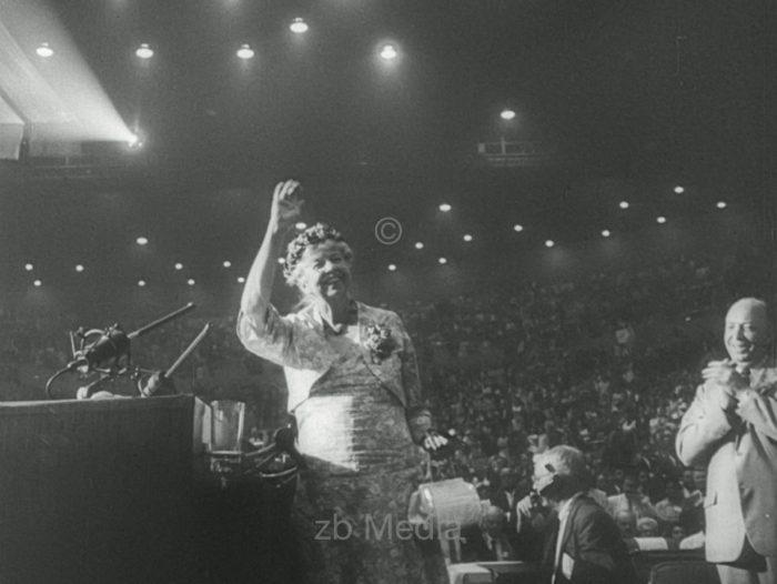 Eleanor Roosevelt. Parteitag der Demokraten 1960
