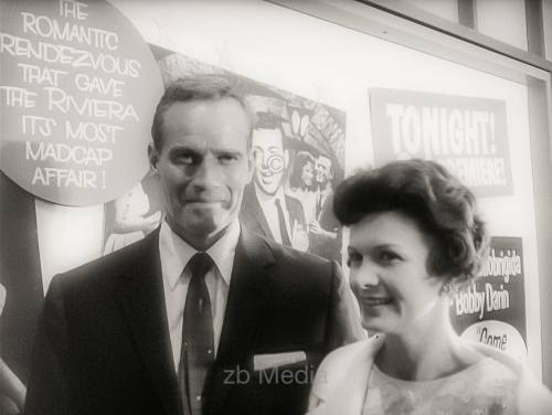 Charlton Heston, Premiere von Come September in Hollywood