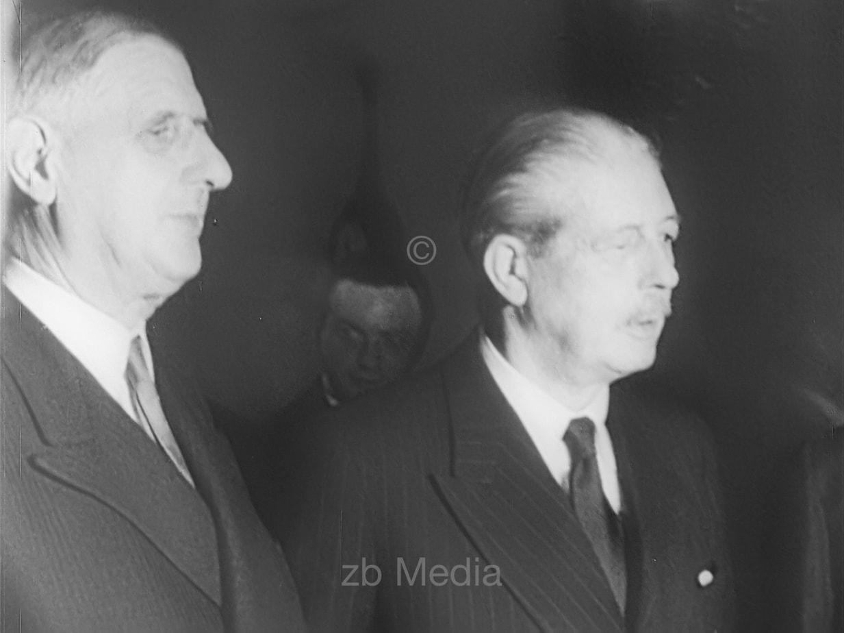 Präsident Charles de Gaulle und Premier MacMillan 1960