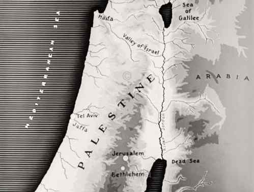 Map of Palestine 1937
