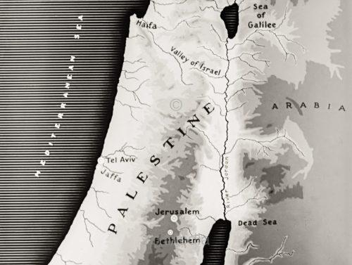 Map of Palestine 1937