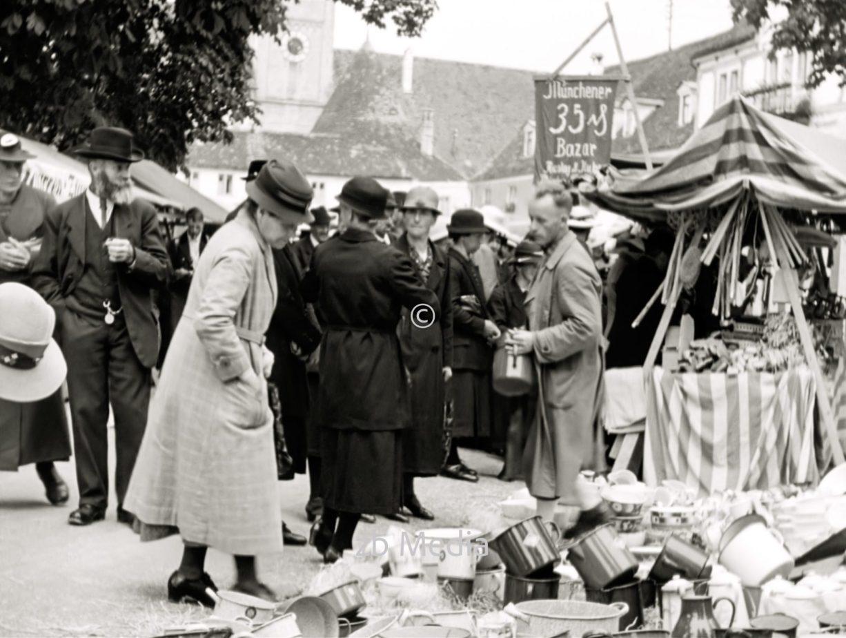 Markt in Steingaden 1937.