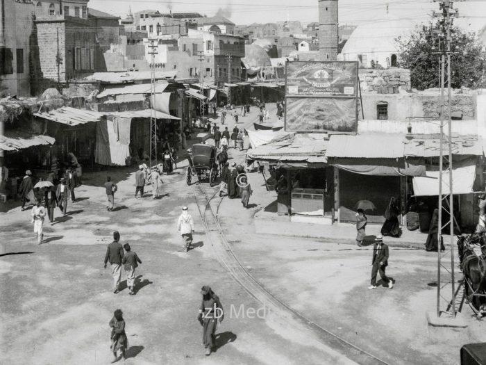Der Marktplatz von Jaffa 1935
