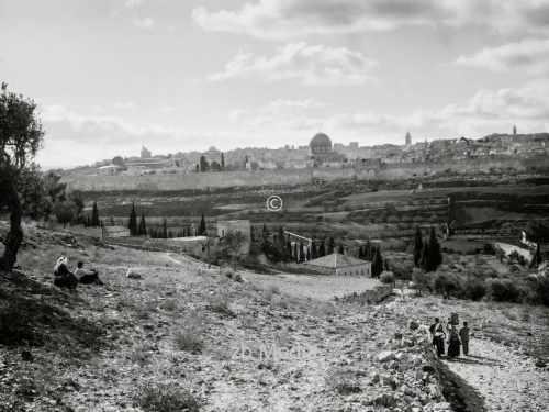 Blick auf Jerusalem um 1930