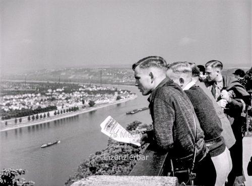 Deutsches Eck bei Koblenz 1937