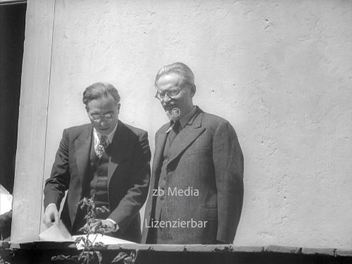 Leon Trotsky with Albert Goldman