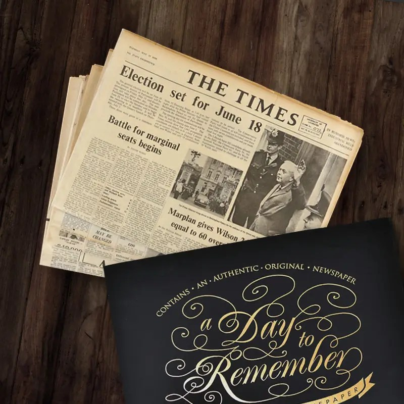 Truly Unique 50th Birthday Gifts Historic Newspapers
