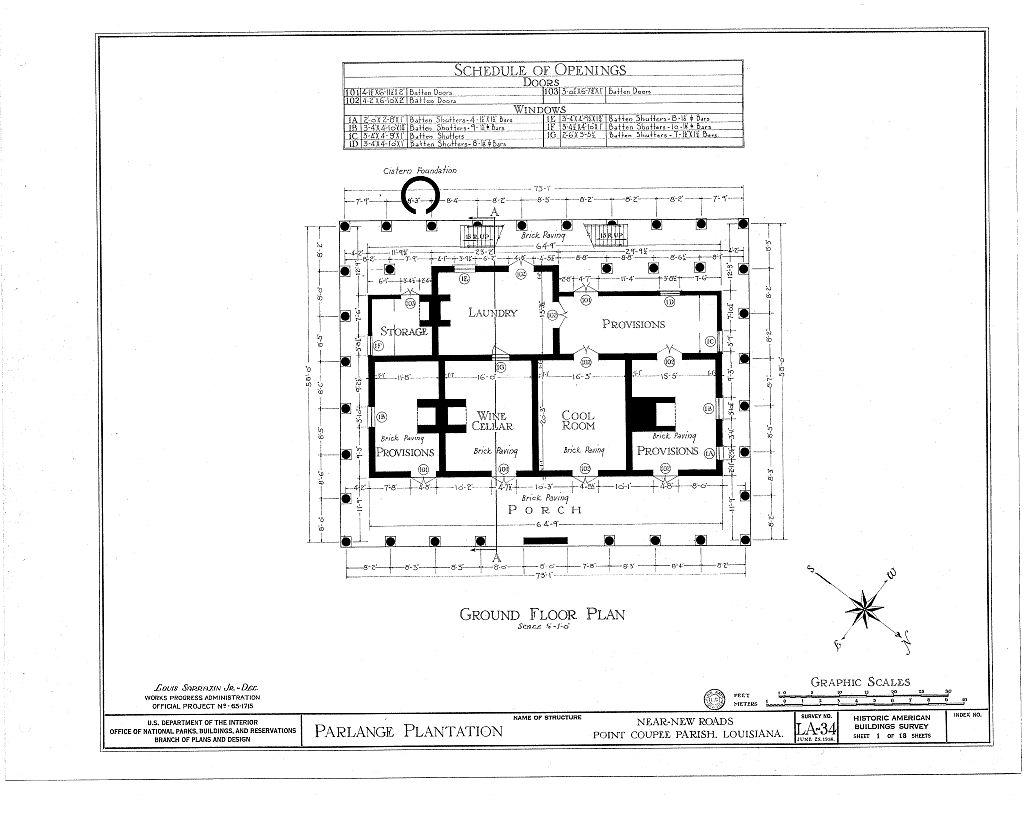 Best Kitchen Gallery: Parlange Plantation House New Roads Louisiana Floor Plans of Louisiana Plantation Home Plans on rachelxblog.com