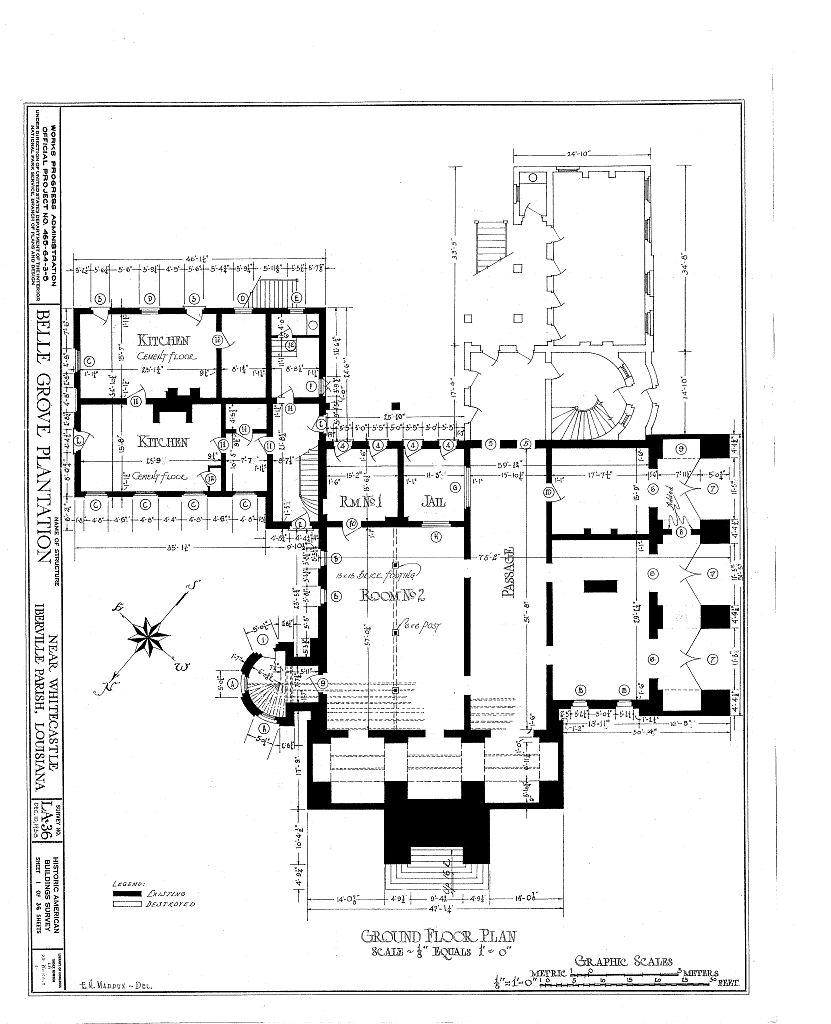 Best Kitchen Gallery: Floor Plans Belle Grove Plantation Mansion White Castle Louisiana of Louisiana Plantation Home Plans on rachelxblog.com