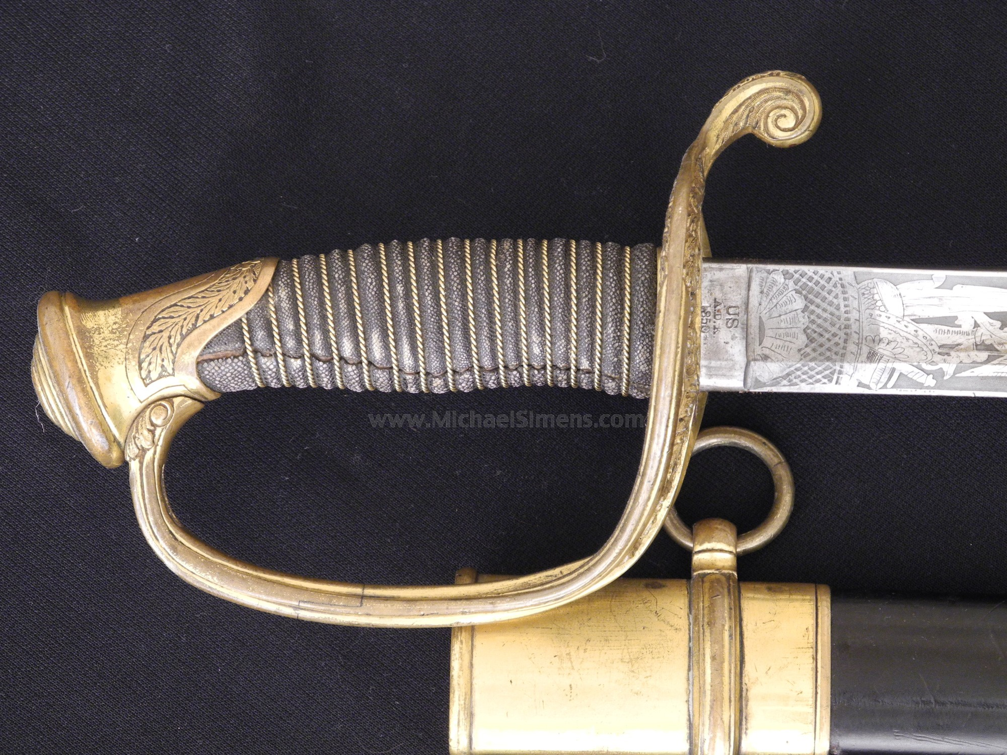 Ames Civil War Sword Inspected And Dated