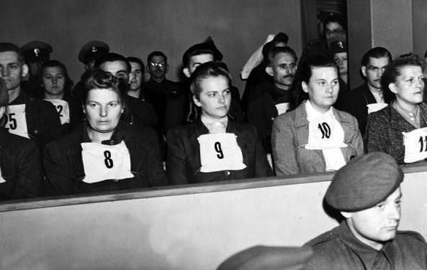 Irma Grese durante i processi di Norimberga