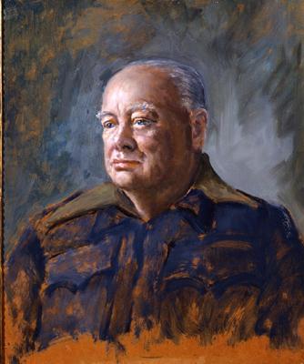 Portrait of Sir Winston Churchill (1874 - 1965), Bernard Hailstone