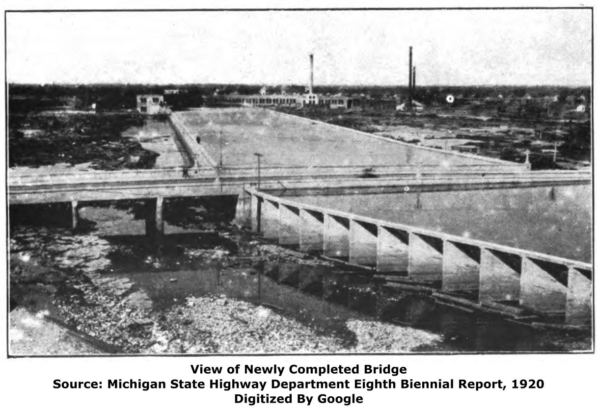 Michigan schoolcraft county germfask - Today The River Is Below The Bridge