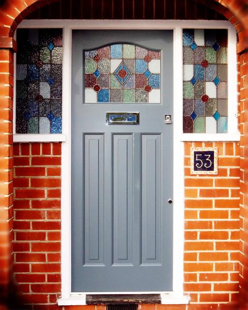 reclaimed 1930s front door