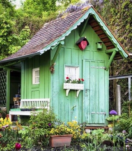 garden shed pantone green