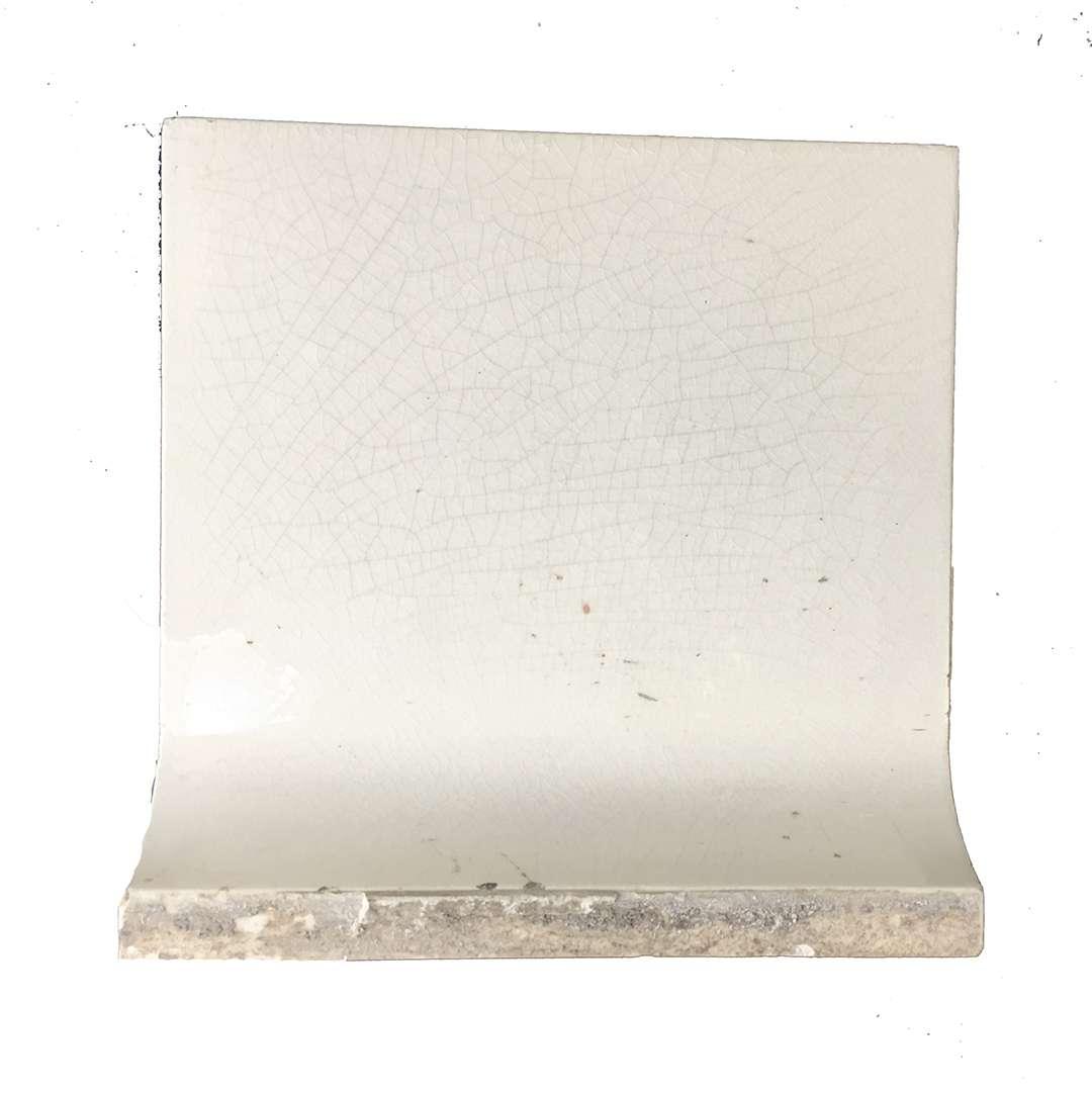 antique white crackle glaze subway sanitary cove base a e tile co american encaustic porcelain bathroom tile 6 x 6
