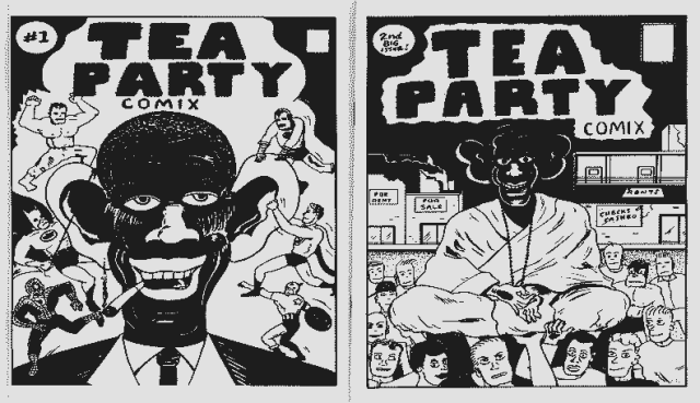 "Obama dans le ""Tea Party Comix"""