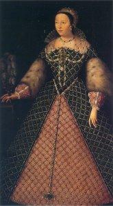 Catharina de Medici als koningin van Frankrijk.
