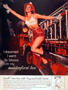 1963 - Firetruck - I dreams I went to blazes in my -- httpwww.adclassix.comads263maidenformbra