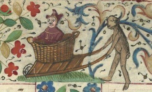 kruiwagen met mand