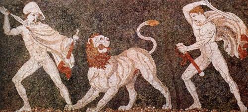 Leeuwenjacht Mozaïek Alexander en Craterus