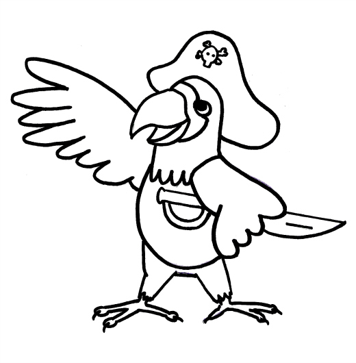pics photos pirate parrot coloring page pages picture