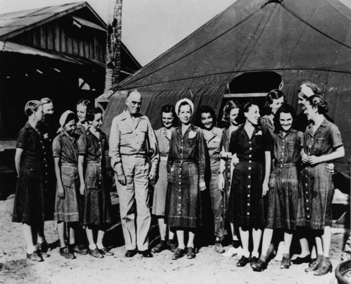 Liberated Nurses at Leyte, Philippine Islands