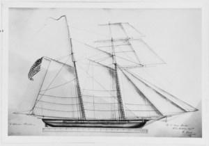U.S. Schooner ALLIGATOR, 1821-23