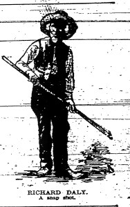 Richard Daly line drawing from Detroit Sunday News-Tribune Jul 22, 1894