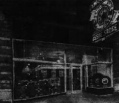 Leroy and MacNish's Associate Store did not have the distinctive inverted triangle. That came to be used at a later date and was registered as a trademark in 1952. Source: Ottawa Journal, June 28, 1952.